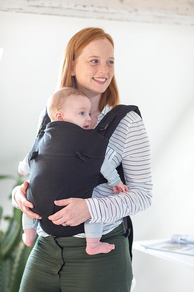 One Size Babylonia Baby Echarpe de portage 5 /à 15 kg Tricot-Click Black